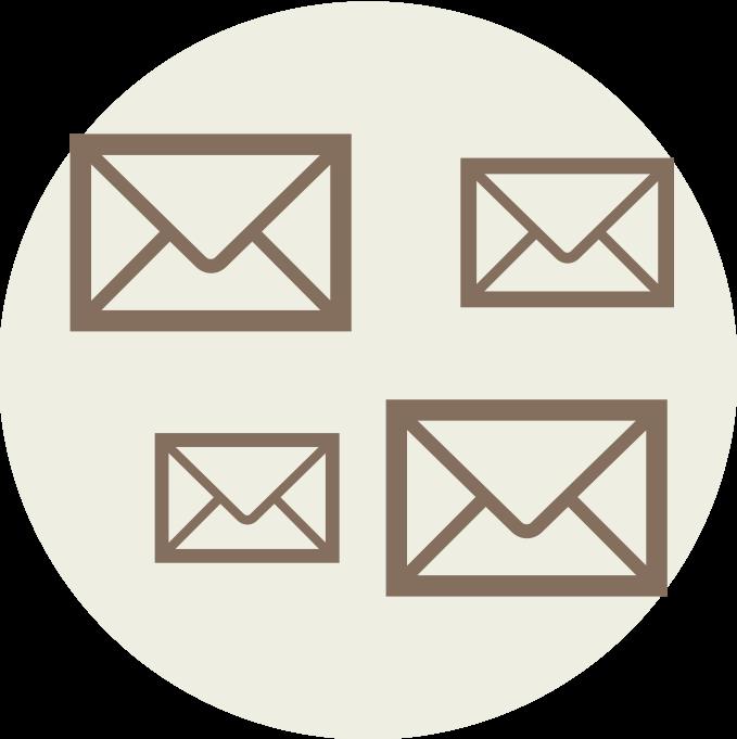 メールによる非効率なやりとり