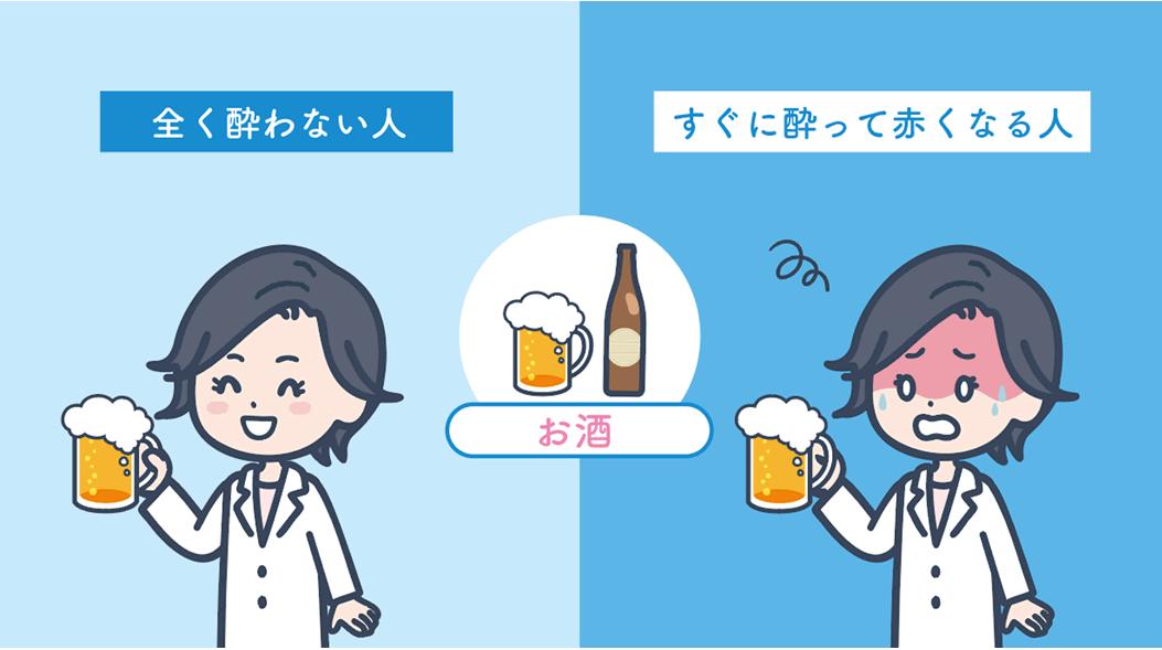 アルコールの代謝は人によってさまざま